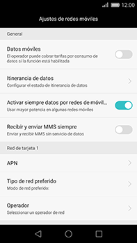 Huawei GX8 - Internet - Activar o desactivar la conexión de datos - Paso 6