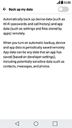 LG K10 2017 - Device maintenance - Create a backup of your data - Step 6