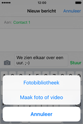 Apple iPhone 4S iOS 9 - MMS - hoe te versturen - Stap 8