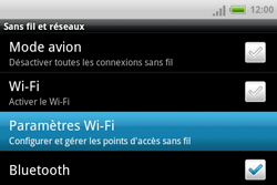 HTC A810e ChaCha - Wifi - configuration manuelle - Étape 4
