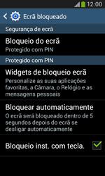 Samsung Galaxy Trend Plus - Segurança - Como ativar o código de bloqueio do ecrã -  12