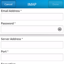 BlackBerry Q5 - Email - Manual configuration - Step 9