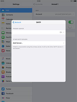 Apple iPad Pro 9.7 - iOS 10 - Email - Manual configuration - Step 23