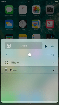 Apple Apple iPhone 6 Plus iOS 10 - iOS features - Control Centre - Step 10