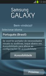Samsung I8190 Galaxy S III Mini - Primeiros passos - Como ativar seu aparelho - Etapa 6