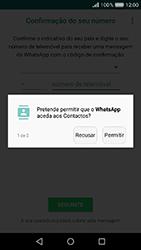 Huawei Y6 (2017) - Aplicações - Como configurar o WhatsApp -  7