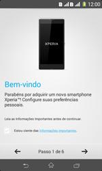 Sony D2105 Xperia E1 Dual - Primeiros passos - Como ativar seu aparelho - Etapa 5