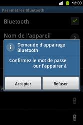 Samsung S5830i Galaxy Ace i - Bluetooth - connexion Bluetooth - Étape 11