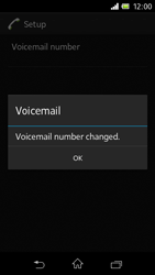 Sony C1905 Xperia M - Voicemail - Manual configuration - Step 9