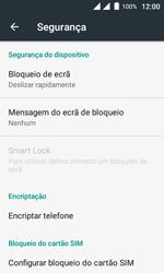 Wiko Sunny DS - Segurança - Como ativar o código de bloqueio do ecrã -  5