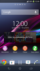 Sony C5303 Xperia SP - Funções básicas - Como checar se o seu aparelho esta desbloqueado para outras operadoras - Etapa 1