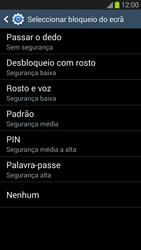 Samsung Galaxy S3 - Segurança - Como ativar o código de bloqueio do ecrã -  7