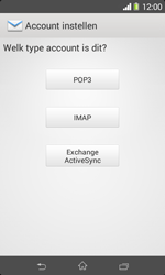 Sony D2005 Xperia E1 - E-mail - Handmatig instellen - Stap 7