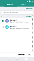 LG K10 2017 - E-mail - Envoi d