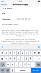 Apple iPhone 6 iOS 9 - Applications - Créer un compte - Étape 21