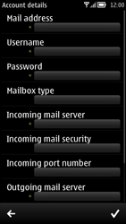Nokia 700 - Email - Manual configuration POP3 with SMTP verification - Step 8