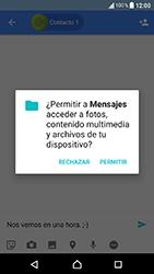Sony Xperia XA1 - Mensajería - Escribir y enviar un mensaje multimedia - Paso 10