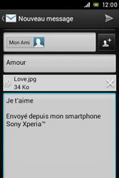 Sony C1505 Xperia E - E-mail - envoyer un e-mail - Étape 13