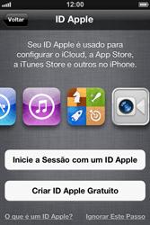 Apple iPhone iOS 5 - Primeiros passos - Como ativar seu aparelho - Etapa 12
