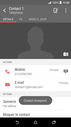 HTC Desire 530 - Contact, Appels, SMS/MMS - Ajouter un contact - Étape 13