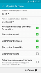 Samsung Galaxy A5 - Email - Como configurar seu celular para receber e enviar e-mails - Etapa 8