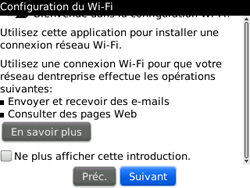 BlackBerry 9300 Curve 3G - WiFi et Bluetooth - Configuration manuelle - Étape 5