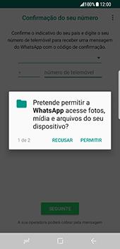 Samsung Galaxy S8 - Aplicações - Como configurar o WhatsApp -  7
