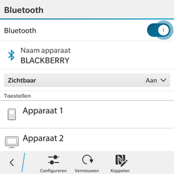 BlackBerry Classic - Bluetooth - Aanzetten - Stap 8