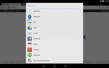Sony Xperia Tablet Z2 4G (SGP521) - Internet - Hoe te internetten - Stap 16