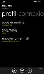 Nokia Lumia 530 - Contact, Appels, SMS/MMS - Ajouter un contact - Étape 12