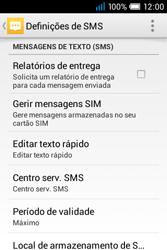 Alcatel POP C1 - SMS - Como configurar o centro de mensagens -  10