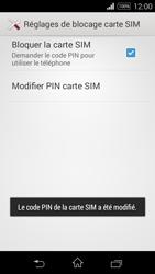 Sony Xpéria E3 - Sécuriser votre mobile - Personnaliser le code PIN de votre carte SIM - Étape 10