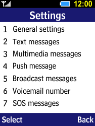 Samsung B550H Xcover 550 - Voicemail - Manual configuration - Step 5