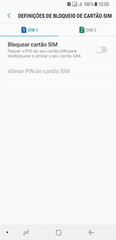 Samsung Galaxy A8 (2018) - Segurança - Como ativar o código PIN do cartão de telemóvel -  7