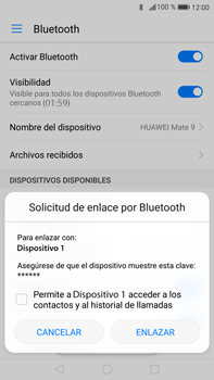Huawei Mate 9 - Bluetooth - Conectar dispositivos a través de Bluetooth - Paso 6