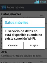 LG Optimus L3 II - Internet - Activar o desactivar la conexión de datos - Paso 7