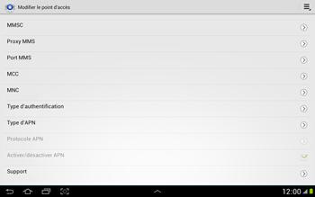 Samsung N8000 Galaxy Note 10-1 - MMS - Configuration manuelle - Étape 11