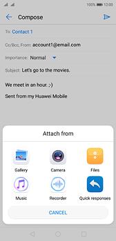 Huawei P20 - E-mail - Sending emails - Step 10