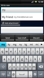 Sony Ericsson Xperia Play - Email - Sending an email message - Step 5