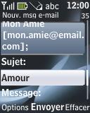 Nokia 2330 classic - E-mail - envoyer un e-mail - Étape 7