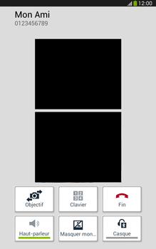 Samsung Galaxy Tab 3 8 4G - Contact, Appels, SMS/MMS - Utiliser la visio - Étape 6