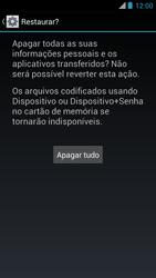 Motorola XT910 RAZR - Funções básicas - Como restaurar as configurações originais do seu aparelho - Etapa 7