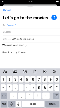 Apple iPhone 8 Plus - iOS 13 - Email - Sending an email message - Step 8
