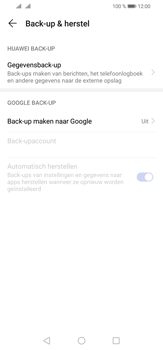 Huawei P30 Lite - Data - maak een back-up met je account - Stap 5