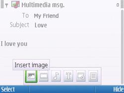 Nokia E5-00 - Mms - Sending a picture message - Step 11