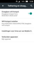 Doro 8031 (Model DSB-0010) - WiFi - Mobiele hotspot instellen - Stap 13