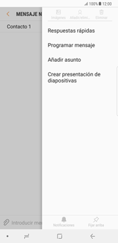 Samsung Galaxy Note 8 - Mensajería - Escribir y enviar un mensaje multimedia - Paso 9