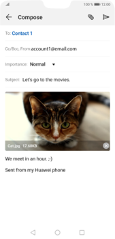 Huawei P20 Pro Android Pie - Email - Sending an email message - Step 15