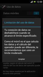 Sony Xperia J - Internet - Ver uso de datos - Paso 9