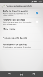 Sony Xperia Z2 - Aller plus loin - Désactiver les données à l'étranger - Étape 7